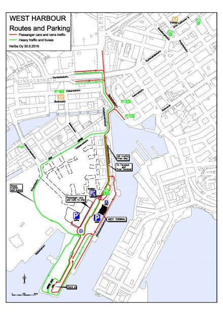 The checkin area for vehicle traffic in West Harbour moves on 30