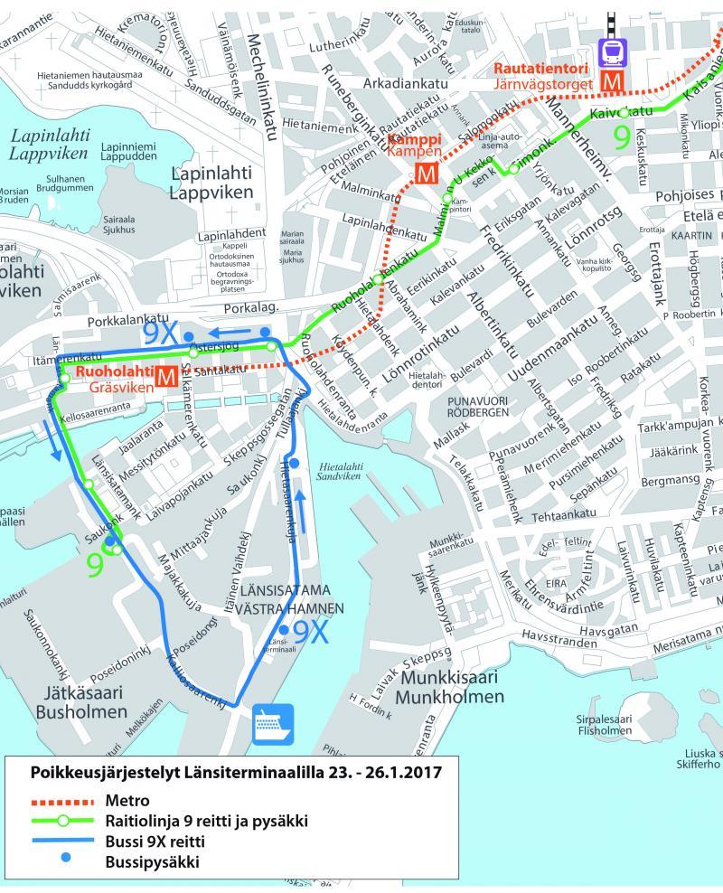 Raitiovaunu Kartta Helsinki